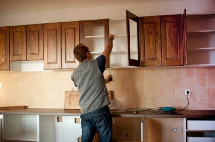 Cabinet refinishing by Edgar's Handyman & Painting