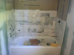During and After Tile Installation in Warren, NJ (1)